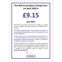 NHS Prescription Charge (Per item)