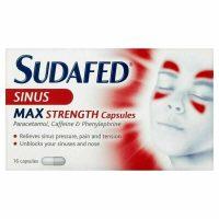 Sudafed Sinus Max Strength 16 Capsules