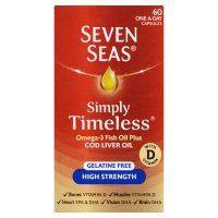 Seven Seas Pure Cod Liver Oil High Strength – 60 Capsules