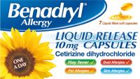 Benadryl Allergy Liquid Release -7 Capsule