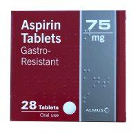 Aspirin 75mg Gastro-Resistant Tablets (28)