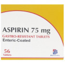 Aspirin 75mg Enteric Coated Gastro Resistant Tablets (56)