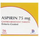 Aspirin 75mg Enteric Coated Gastro Resistant Tablets (56)