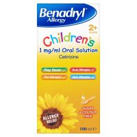 Benadryl Allergy  Children's Solution, Cetirizine (100ml)