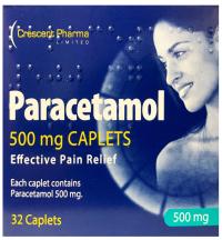 Crescent Paracetamol 500mg Caplets (32)