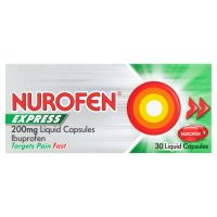 Nurofen Express 200mg Liquid 30 Caplets