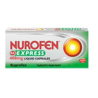 Nurofen Express Max Strength 400mg Liquid 20 Capsules